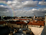 Rainbow over roofs by GKalian