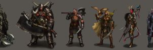 Characters design by manusia-no-31