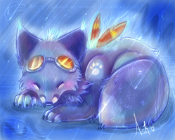 Out in the Rain by Ash-Dragon-wolf