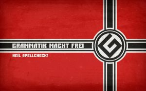'Grammatik Macht Frei' Wallpaper by unI3ind