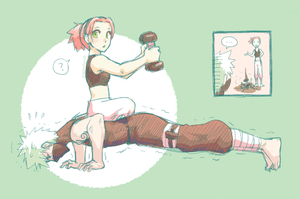 Naruto: Workout by ahnline