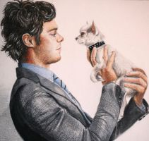 Adam Brody and a Little Dog by Chicken-Priestess