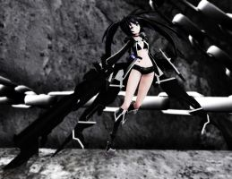 [MMD] Black Rock Shooter by sailor-rice