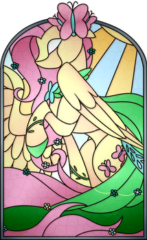 Fluttershy Stained Glass by Scarlet-Spectrum