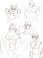 Robot Masters Sketches 2 by MegaManRecut