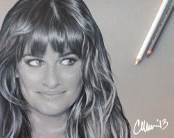 Side Eye Lea Michele Sketch by Live4ArtInLA