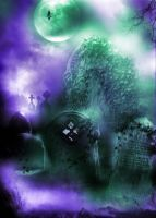 PREMADE BACKGROUND 5- AMTHYSTICA CEMETERY by L-A-Addams-Art
