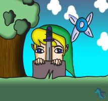 Link and the MasterSword by water16dragon