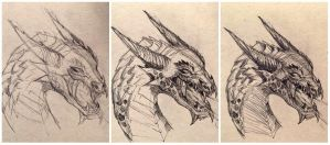 dragon_study_process by amirafox