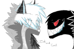 Quick Zink and Grell sketch by Cynder18
