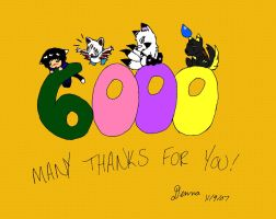 6000 pageviews colored by Denna