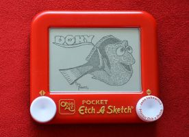 Dory etch a sketch by pikajane