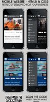 Mobile Web Template  HTML5 and CSS3 by aliarslan