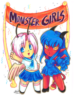 MGC_Day 30 Celebrate Monster Girls! by f-sonic