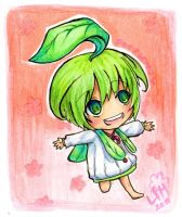 A little leaf girl- for Pichu by Tree-kun