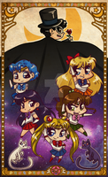 Sailor chibi scouts by Kauritsuo