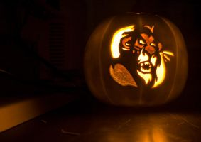 Scar Pumpkin by Jskellington85