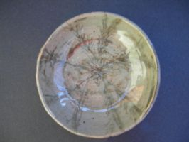 Bowl with scratched in flower by abflabby