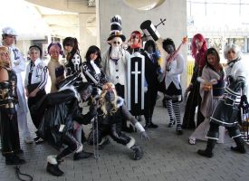 D.Gray-Man group Romics 2008 by Giuly-Chan