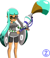 Splatoon Fanart - Inkling (female) by zayzayo