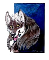 Fuzzy Wolf Portrait by lady-cybercat
