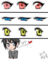 anime manga eyes coloring tutorial by ShikiAriandriNight