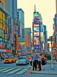 Times Square traffic by JWalkerimages
