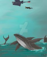 HTTYD 2 -Flying Whales by PurpleMistPepper