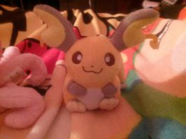 Raichu Pokedoll by SkunkyRainbow270