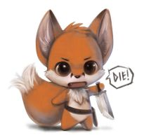 Chibi foxxy warrior by Silverfox5213
