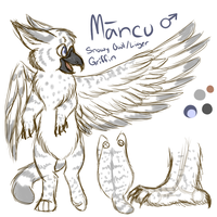 Mancu Ref Sheet by FrostbittenRuins