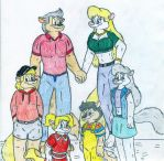 Minerva and Marty family by Jose-Ramiro