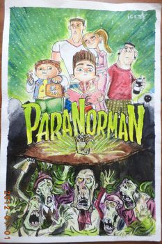 Paranorman watercolor painting (raw file) by ice-rockz