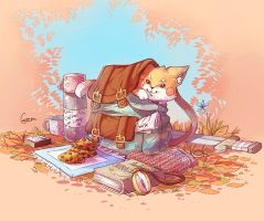 The  Backpack and The Fox by Mikoele