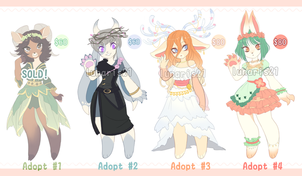 Spring Adopts FLATSALE! [3/4 OPEN] by Lunaris21