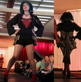 Punk Rock Burlesque Outfit 1 by GrimmFirefly