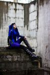 Blue Cybergoth Stock by MysteriaViolentStock