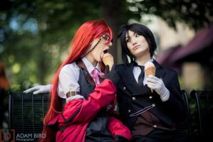 Cosplay-1398 SebastianxGrell by StickieBun13