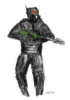 Enclave Light Combat Armour by daStig177