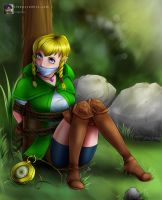 'Linkle' Bound and Gagged - From Zelda by sleepy-comics