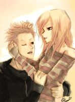 Avril and Deryck 2 by Qkung