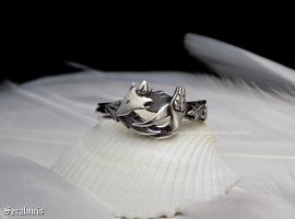 'Alliance', handmade sterling silver ring by seralune