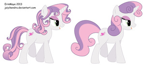 Sweetie Belle Grown Up Comparison by JaiYiKendra