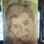 Bobby Darin Drawing 001 by TheWarners