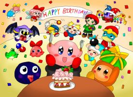 Kirby's 20th Anniversary by purplemagechan