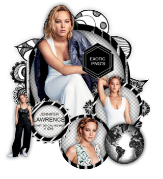 Pack Png 1403 // Jennifer Lawrence by ExoticPngs