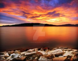 Utah Lake Sunset 11.20.09 by houstonryan