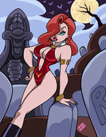 JESSICA RABBIT as VAMPIRELLA by AnyaUribe