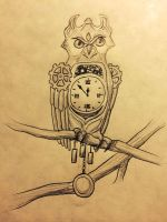 7 Day Challenge (Day 6): Grandfather Owl by XxNinjaKatxX