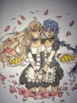 Rika and IA maid by 16fable